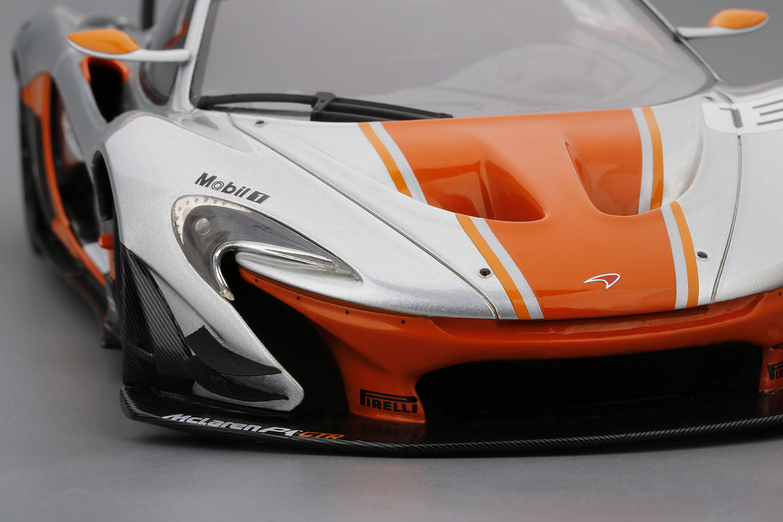 mclaren p1 gtr #13 silver & orange 2015 - shockmodel