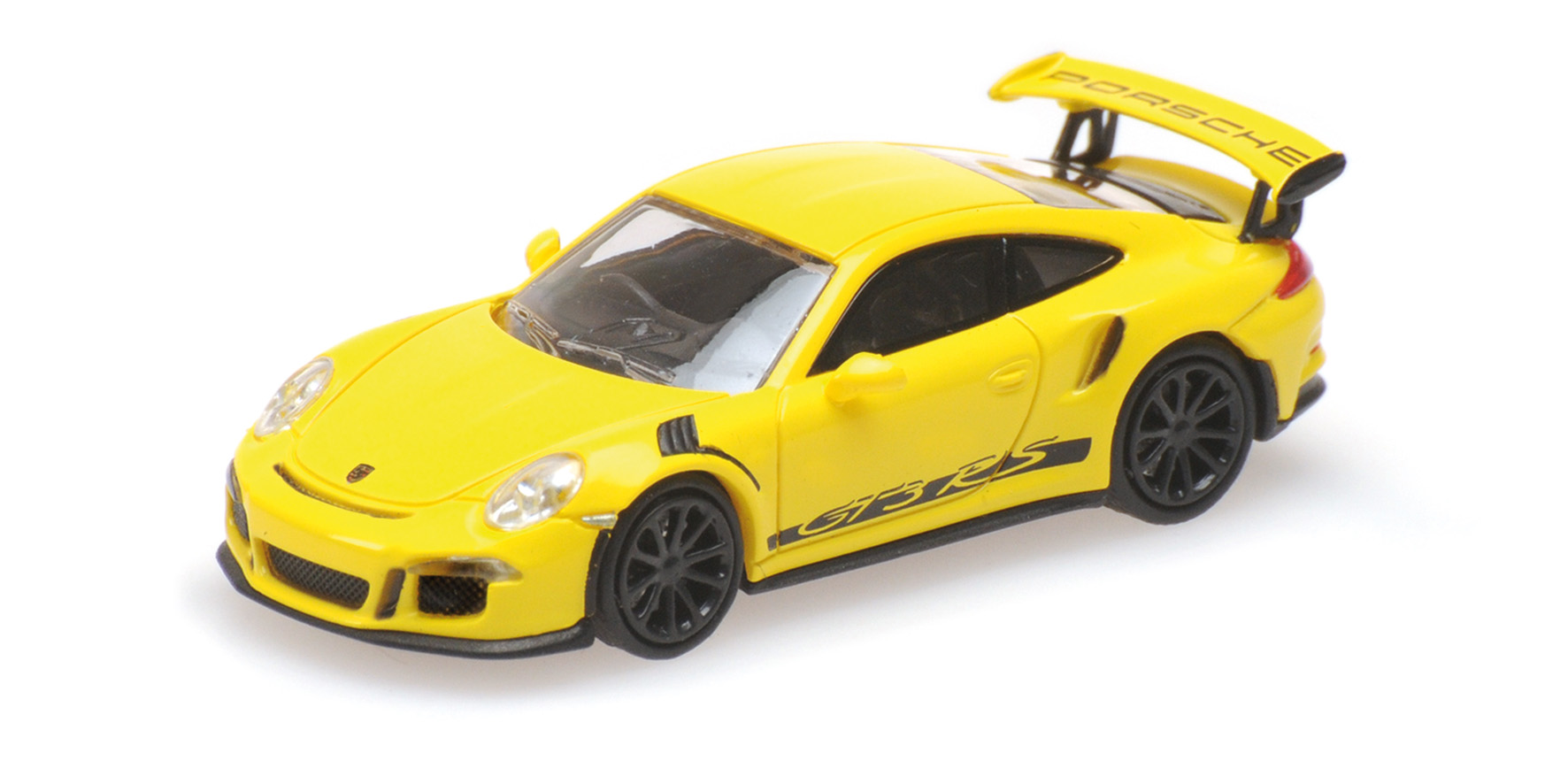 PORSCHE 911 GT3 RS YELLOW WITH STRIPES 2013