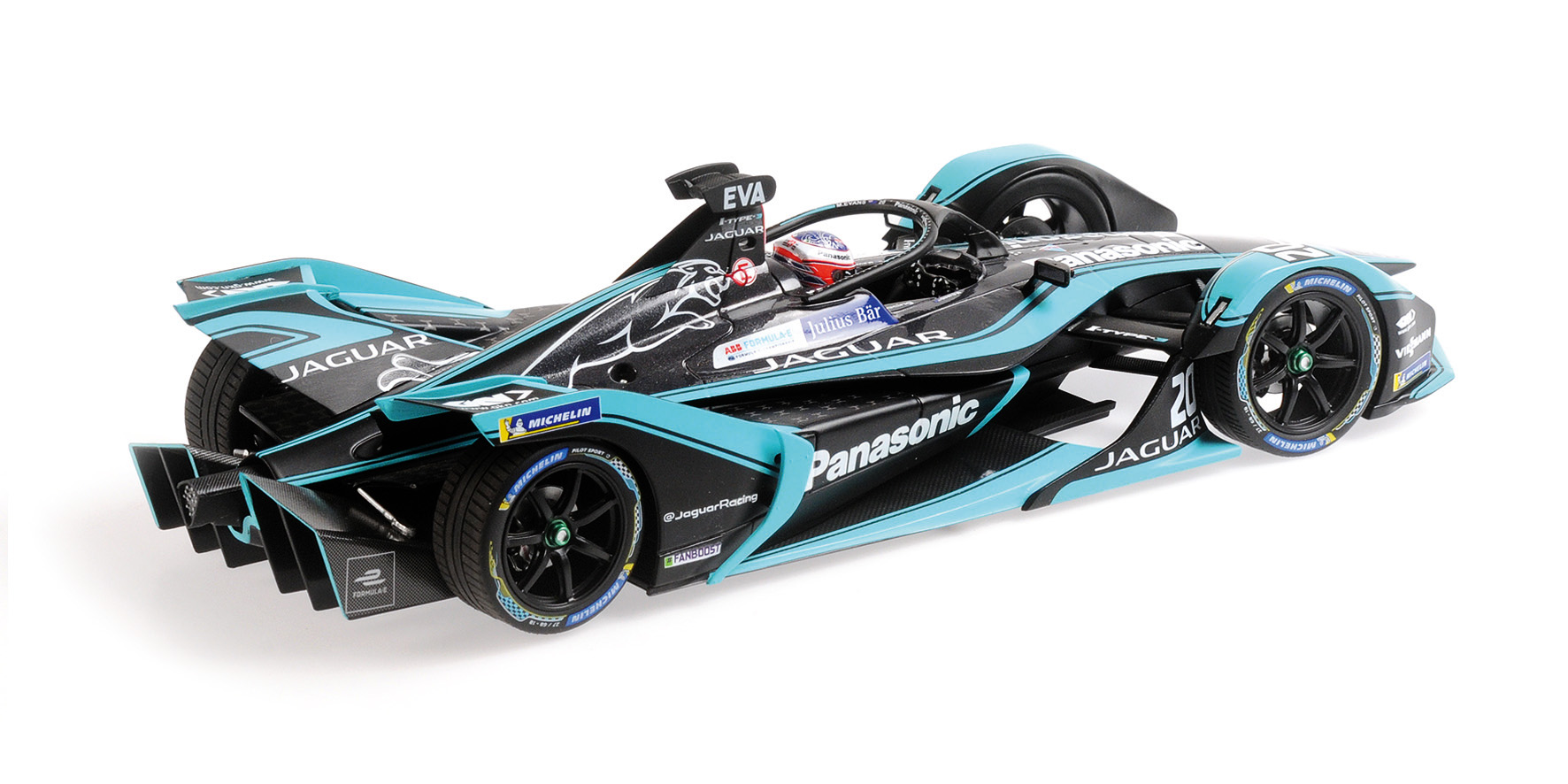 Formula e season 5 panasonic jaguar racing mitch evans minichamps 1//18